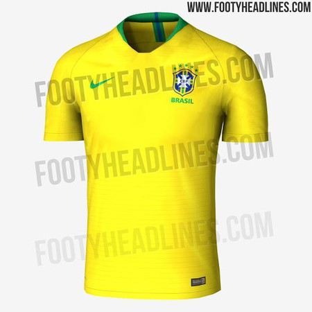 87a66bb3f Brazil Going for Gold as 2018 World Cup Shirt is Leaked