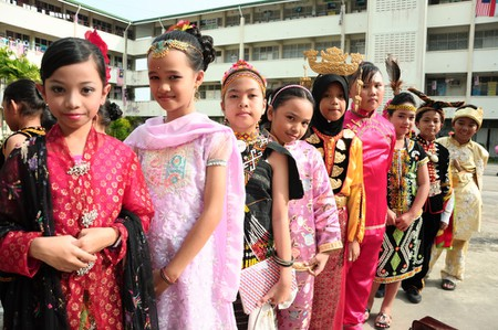 Children wearing traditional clothes in Sabah   © Sylvia sooyoN/Shutterstock