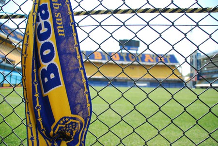 The iconic yellow and blue colours of Boca Juniors