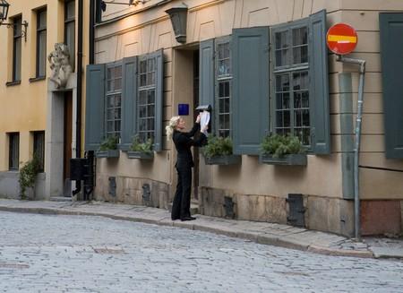 Den Gyldene Freden is on one of Gamla Stan's lovely cobbled streets