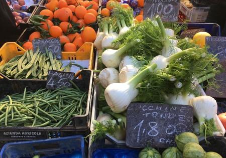 Mountains of produce at Pigneto market