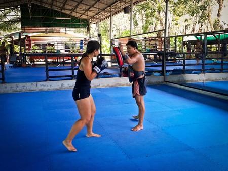 Thai boxing practice