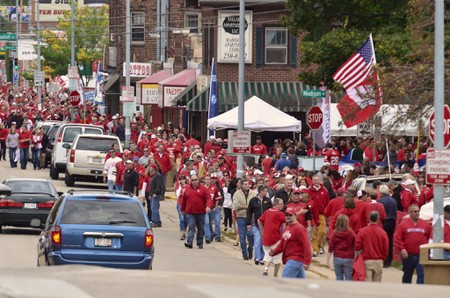 Badger fans on game day   © Richard Hurd/flickr