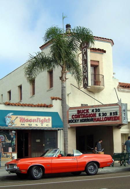 The historic La Paloma movie theater in Encinitas.