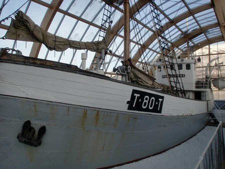 The MV Polstjerna at the Tromsø Museum
