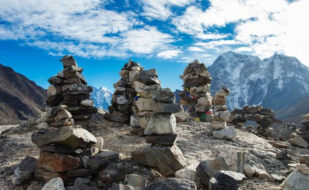 Assemblage Of Rock Cairns