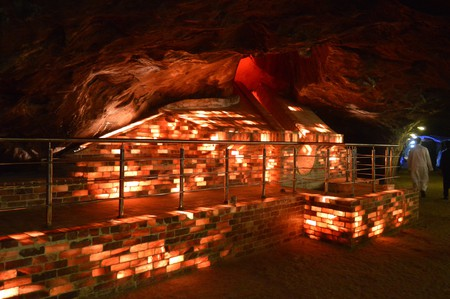 Salt bricks in Khewra Salt Mine