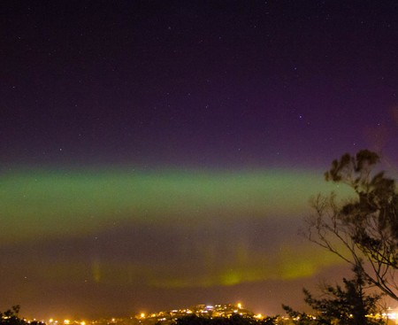 Aurora Australis over Dunedin, New Zealand