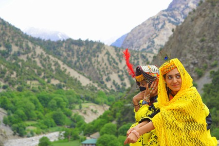 Kalasha women, Kalash Valleys, Pakistan