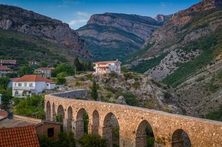 Ancient stone bridge in Bar, Montenegro