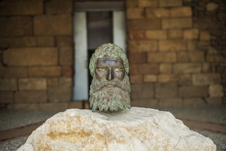 Replica of the Bronze Head of Seuthes III, the King of the Odrysian Kingdom of Thrace, found in the tomb Golyamata Kosmatka near Kazanlak, Bulgaria