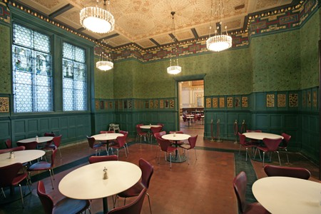 William Morris decorated this room with the help of his friends Philip Webb and Sir Edward Burne-Jones