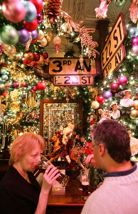 Rolfs Christmas Bar Nyc.The Allure Of Rolf S During Christmas