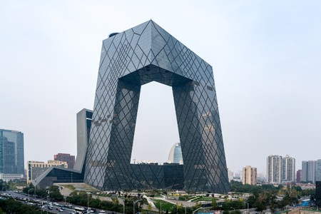 The CMG Headquarters on, Guanghua Road in the Beijing Central Business District.