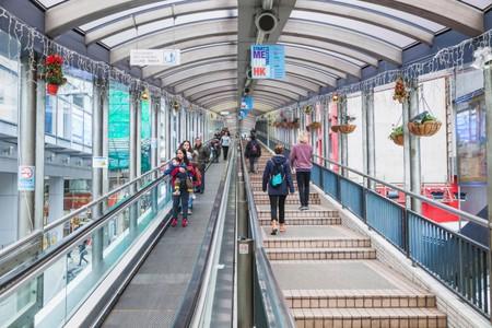 China, Hong Kong, Central, Mid-levels Escalator