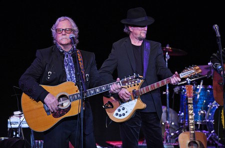 Chris Hillman and Roger McGuinn perform at the 50th anniversary of the Byrds Sweetheart of the Rodeo Album tour at The Parker Playhouse, Florida