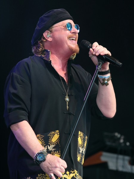 Joseph Williams of the band Toto performing in concert at Pier Six Pavilion, Baltimore