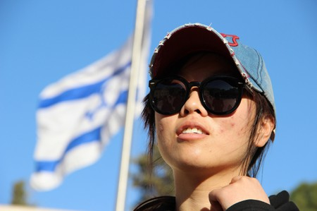 Kaifeng Jewish women arrive in Israel on aliyah with the help of Shavei Israel on February 29, 2016. Upon arrival at Ben Gurion Airport, after a short and meaningful ceremony, they were brought to Jerusalem and an emotional trip to the Western Wall.
