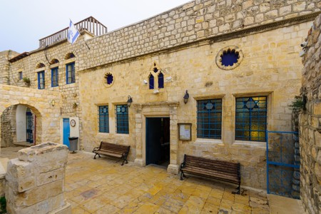 The Ashkenazi HaAri Synagogue, in the Jewish quarter, in Safed (Tzfat), Israel