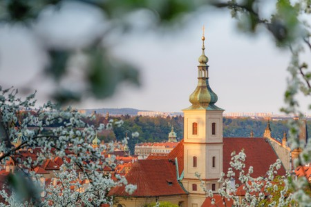 The view from Petrin hill, Prague