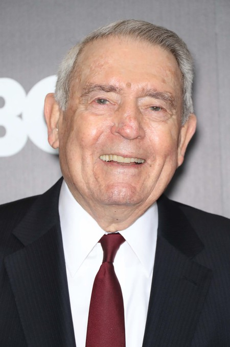 Dan Rather at 2019 'Breslin and Hamill: Deadline Artists' film premiere, Arrivals, New York, USA.