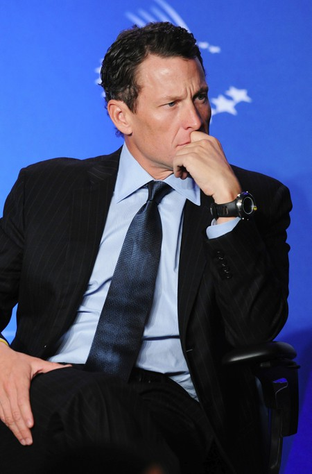 Lance Armstrong at the 2010 Clinton Global Initiative, New York, USA.