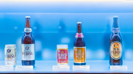 The Museum of Yebisu Beer opened in 2010, celebrating 120 years of the brand, houses collection of photos, old advertising boards, videos and historic bottles of Yebisu.
