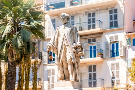 Lord Brougham statue in Cannes
