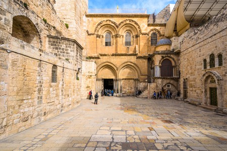 Jerusalem, Israel at  The Church of the Holy Sepulchre.