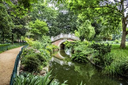 Parc Monceau public park located in the 8th arrondissement of Paris, France