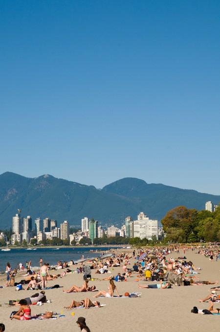 Kitsilano Beach in downtown Vancouver
