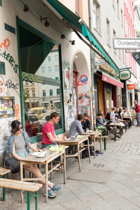 Bars and cafes in the Kreuzberg district, Berlin, Germany