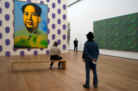 Painting of Chairman Mao by Andy Warhol at Hamburger Bahnhof Museum of Contemporary Art in Berlin Germany.