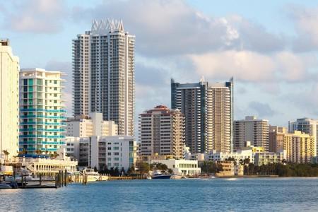 Buildings at North Beach and Mid Beach, Miami Beach, Florida.