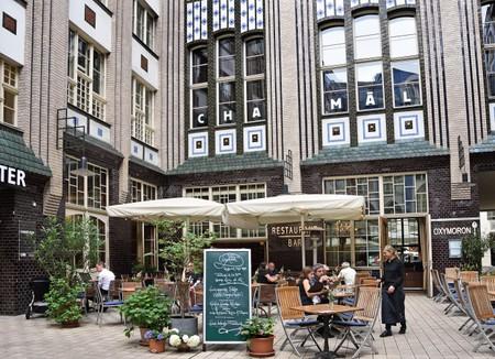 Cafe outside Hackesche Hofe, Berlin.