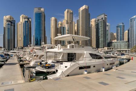 Dubai marina in the UAE