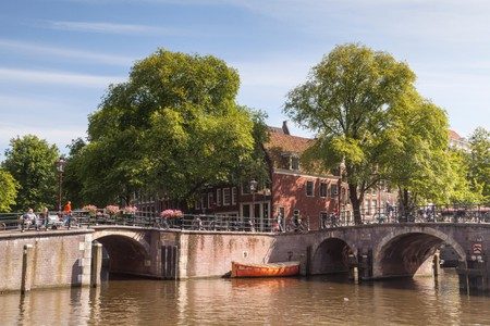 Historic canal belt in Amsterdam, the area is designated as a World Heritage Site by UNESCO.