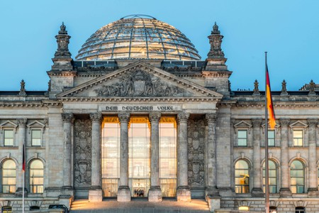 Reichstag, Cupola, Twilight, Berlin, Germany