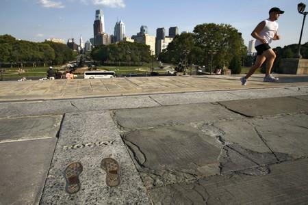 Sylvester Stallone Footprints, The Rocky Steps