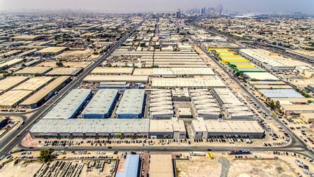 Aerial shot of Alserkal Avenue in Al Quoz