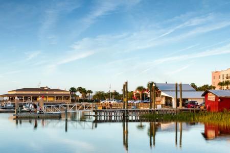 View of Fernandina Beach Marina, Amelia Island, Florida
