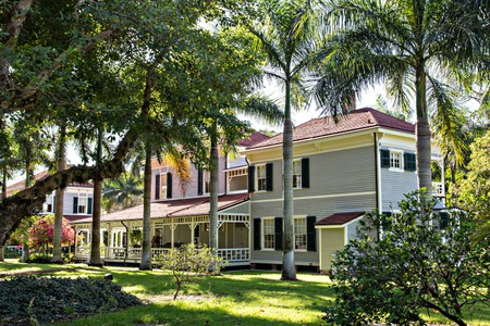 The winter home of Thomas Alva Edison beside the Caloosahatchee River in Fort Myers, Florida. Edison and Henry Ford build their winter estates on adjacent sites surrounded by a 21-acre botanical garden.