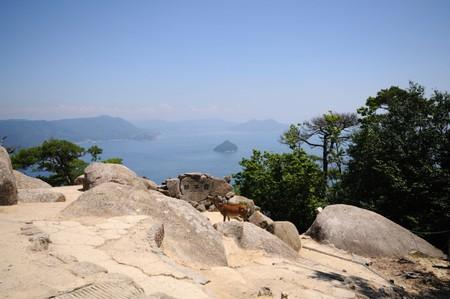 View of Seto Inland Sea from Mount Misen. Itsukushima (Miyajima) Island.