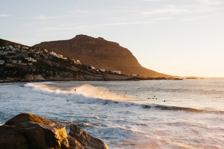 Surfers in Cape Town, South Africa.