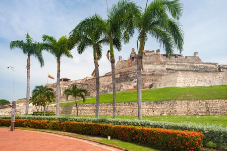 The Castle of San Felipe de Barajas in Cartagena, Colombia.