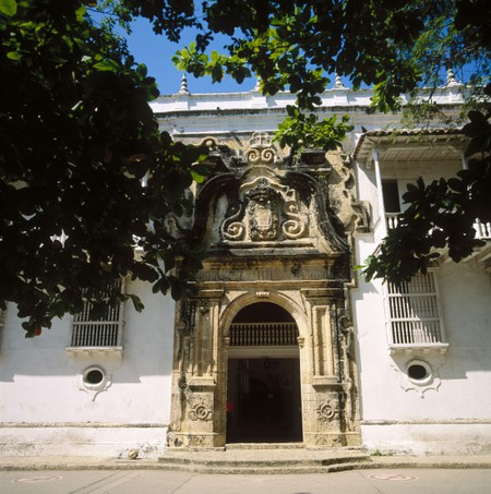 Palace of the Inquisition (17th century) in Plaza de Bolivar (Bolivar´s Square), Cartagena de Indias. Colombia