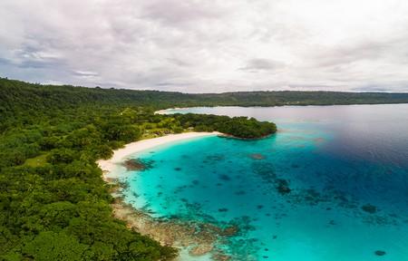 Champagne Beach, Vanuatu, Espiritu Santo island, near Luganville,  South Pacific
