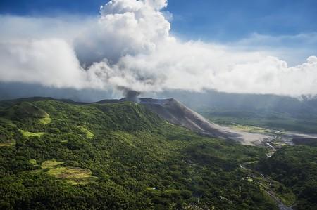 Aerial view of Yasure Volcano