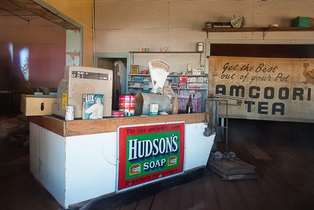 Interior of deserted shop at Gwalia Ghost Town