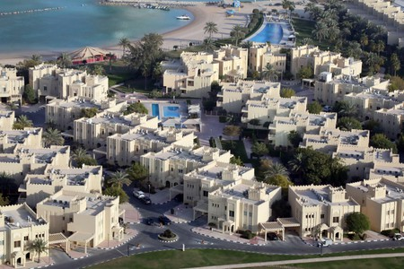 View of villas in the West Bay Lagoon area of Doha
